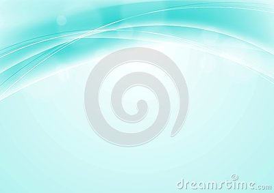 Turquoise blue abstract smooth wavy background Vector Illustration