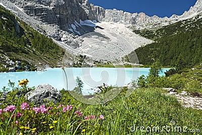 Turquoise Blue Mountain Lake