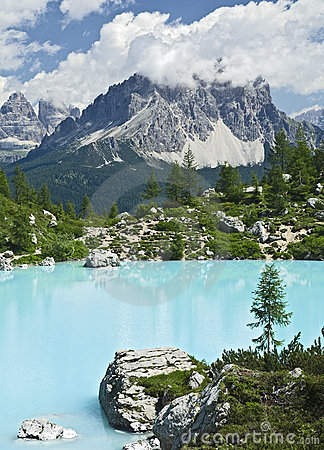 Turquoise Blue Mountain Lake