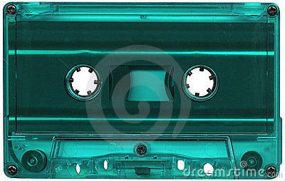 Turquoise cassette tape