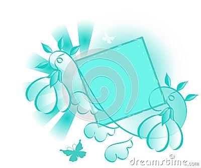 Turquoise Design Element