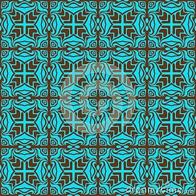Turquoise elegance seamless pattern