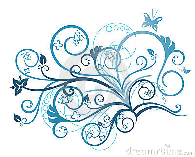 Turquoise Floral Design Element Stock Photos - Image: 12797043