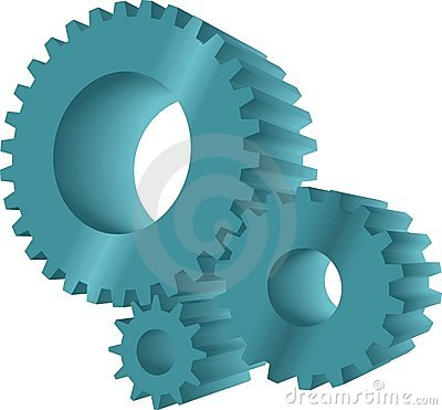 Turquoise gears