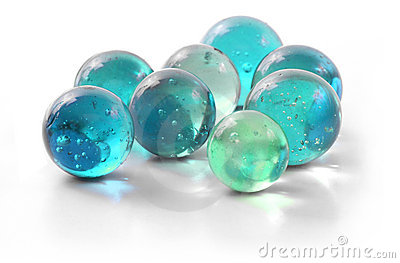 Turquoise Glass Marbles