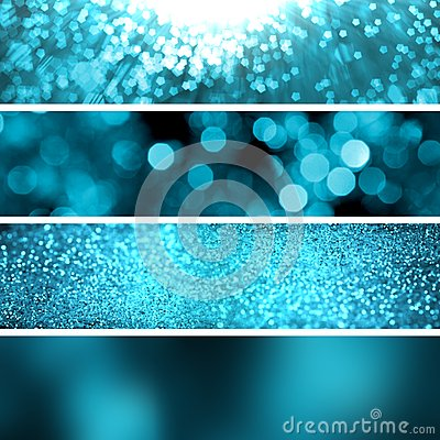 set turquoise glitter background banners stock photo