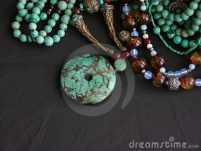 Turquoise Gold and Gemstones