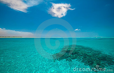 Turquoise indian ocean