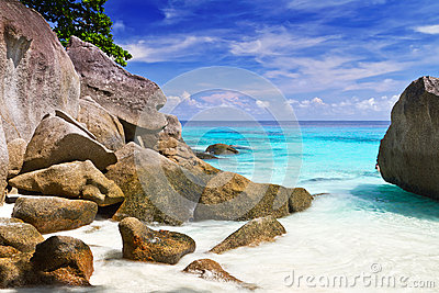 Turquoise lagoon on Similan Islands