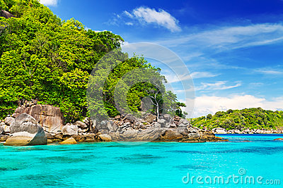 Turquoise lagoon in Thailand