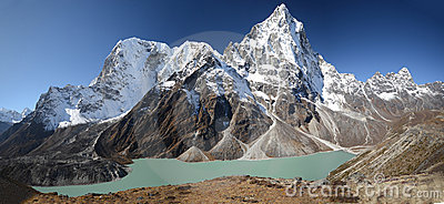 Turquoise Lake in the Everest