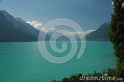 Turquoise mountain lake