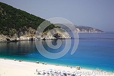 Turquoise Myrtos beach