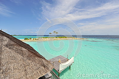 Turquoise ocean of Maldives