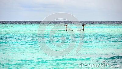 Turquoise sea in Maldives