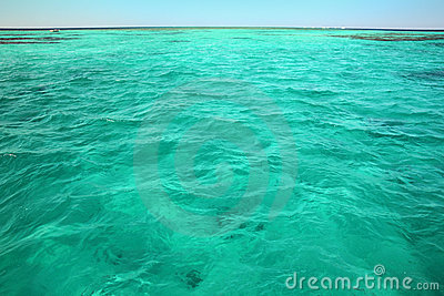 Turquoise sea surface background