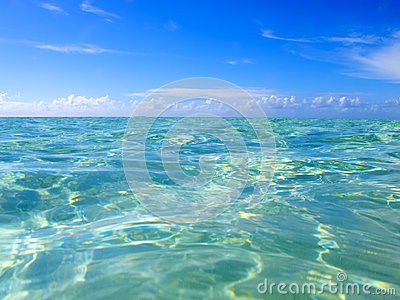 Turquoise water of the caribbean