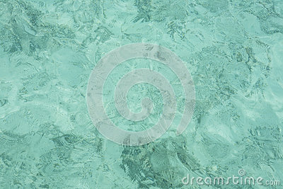 Turquoise water ripple
