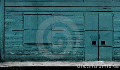 Turquoise window & door