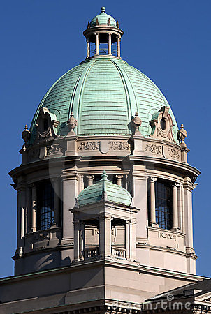 Turret of Serbian parliament