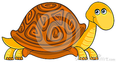 Turtle. Cartoon african wild animal character