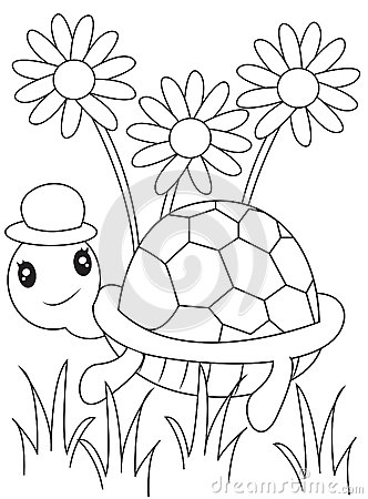 Free Turtle Coloring Page Stock Images - 50541814