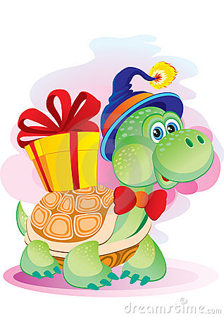 Turtle with a gift