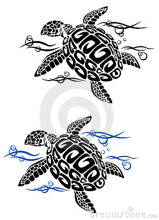 Free Turtle In Sea Water Royalty Free Stock Photos - 23563868