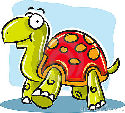 Turtle with Red Shell