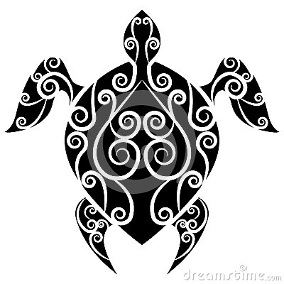 Turtle Swirl Tattoo