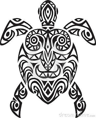 Turtle tatto design
