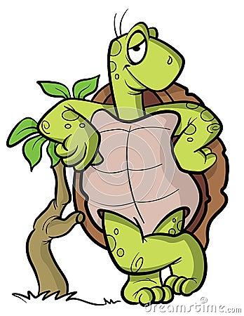 Turtle or tortoise cartoon illustration