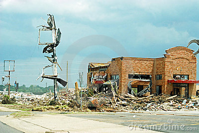 Tuscaloosa Tornado Destruction Editorial Photo