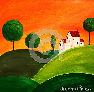 Free Tuscan Art 3 Stock Image - 446111