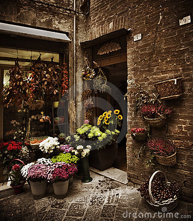 Tuscan Flower Shop, Italy