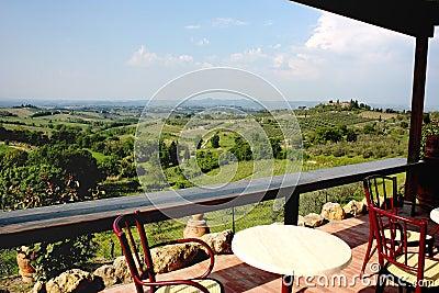 Tuscan hills of Siena