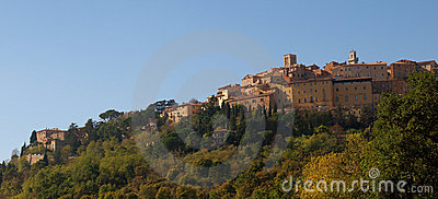 Tuscan Hilltop Town, Montepulciano, Italy