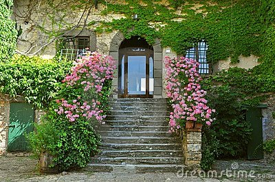 Typical Tuscan house, villa, mansion in Italy