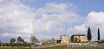 Tuscan Landscape, isolated farm