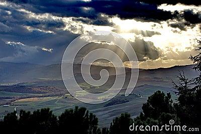 Tuscan Landshape - Pienza