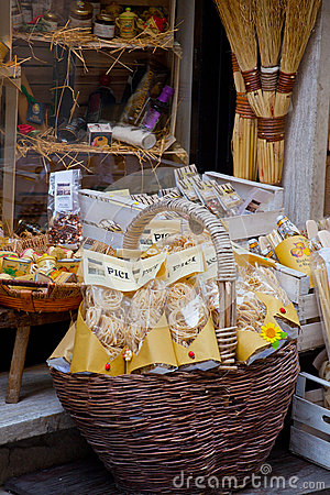 Tuscan souvenirs for tourists Editorial Image