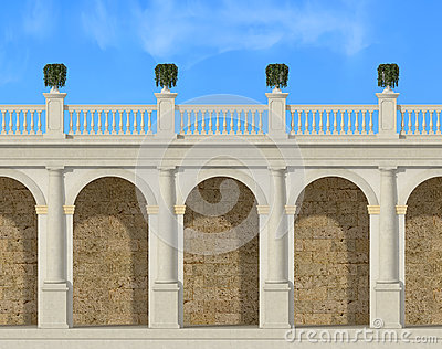 Tuscany colonnade