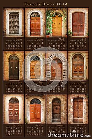 2014 Tuscany Doors Calendar
