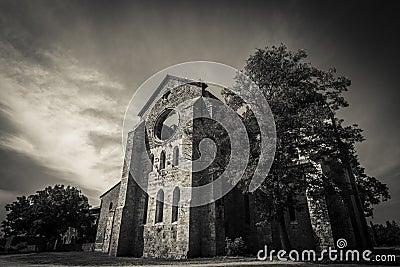 Tuscany gothic abbey