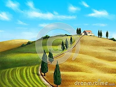 Tuscany landscape