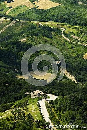 Tuscany landscape.