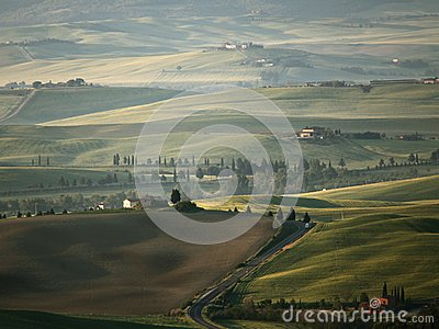 Tuscany landscape near Pienza