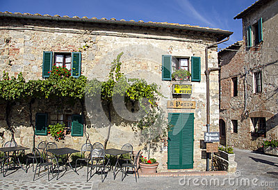 Tuscany outside restaurant Editorial Photography