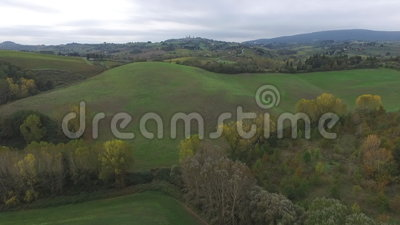 Tuscany vineyards. Near San Gimignano stock footage