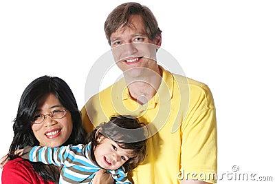 Familie tussen verschillende rassen
